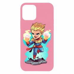 Чехол для iPhone 12/12 Pro Captain marvel hovers in the air