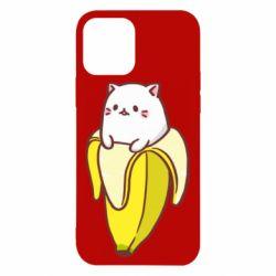 Чехол для iPhone 12/12 Pro Cat and Banana