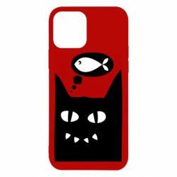 Чехол для iPhone 12/12 Pro Cat dreams of a fish