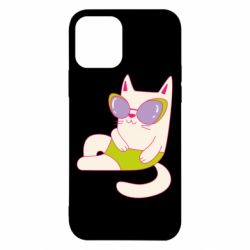 Чехол для iPhone 12/12 Pro Cat in modern glasses