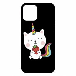 Чохол для iPhone 12/12 Pro Cat unicorn and strawberries