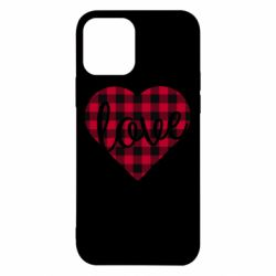 Чехол для iPhone 12/12 Pro Checkered heart with the inscription Love