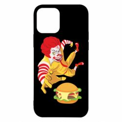 Чехол для iPhone 12/12 Pro Clown in flight with a burger
