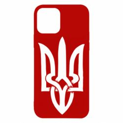 Чехол для iPhone 12/12 Pro Coat of arms of Ukraine torn inside