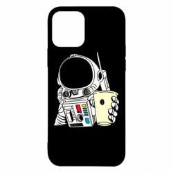 Чехол для iPhone 12/12 Pro Cosmonaut with a coffee