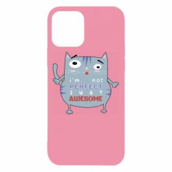 Чехол для iPhone 12/12 Pro Cute cat and text