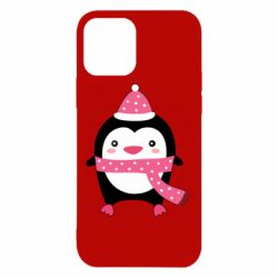 Чехол для iPhone 12/12 Pro Cute Christmas penguin