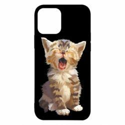 Чохол для iPhone 12 Cute kitten vector
