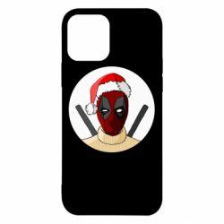 Чехол для iPhone 12/12 Pro Deadpool in New Year's hat