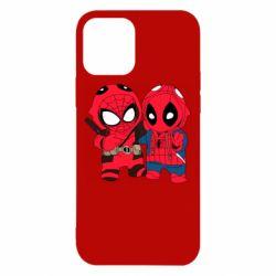 Чехол для iPhone 12/12 Pro Дэдпул и Человек паук