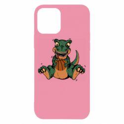 Чехол для iPhone 12/12 Pro Dinosaur and basketball