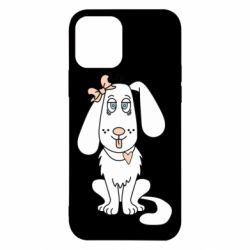 Чехол для iPhone 12/12 Pro Dog with a bow