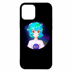Чохол для iPhone 12/12 Pro Earth-chan in a T-shirt with a Nasa logo