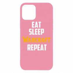 Чехол для iPhone 12/12 Pro Eat sleep Warcraft repeat