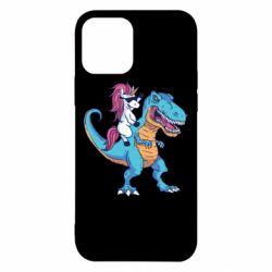 Чохол для iPhone 12/12 Pro Єдиноріг і динозавр