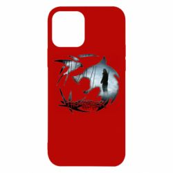 Чехол для iPhone 12/12 Pro Emblem wolf and text The Witcher