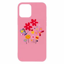 Чехол для iPhone 12/12 Pro Flowers and Butterflies