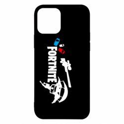 Чехол для iPhone 12/12 Pro Fortnite logo and heroes