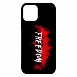 Чехол для iPhone 12/12 Pro Freedom is red and black
