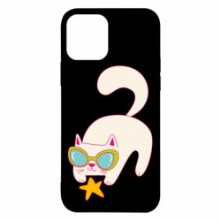 Чехол для iPhone 12/12 Pro Funny cat with star
