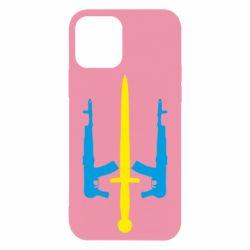 Чохол для iPhone 12/12 Pro Герб України з автоматами та мечем