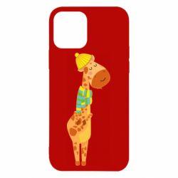 Чехол для iPhone 12/12 Pro Giraffe in a scarf