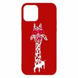 Чохол для iPhone 12/12 Pro Giraffe in pink glasses
