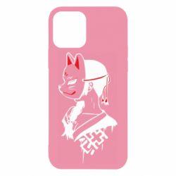 Чехол для iPhone 12/12 Pro Girl with kitsune mask