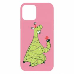 Чехол для iPhone 12/12 Pro Green llama with a garland
