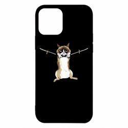 Чехол для iPhone 12/12 Pro Grumpy Cat On The Rope
