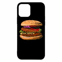 Чехол для iPhone 12/12 Pro Hamburger hand drawn vector