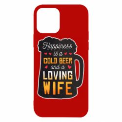 Чехол для iPhone 12/12 Pro Happiness is a good bear and a loving wife