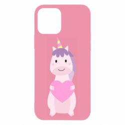 Чехол для iPhone 12/12 Pro Happy unicorn with a heart