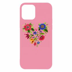 Чехол для iPhone 12/12 Pro Heart made of flowers vector