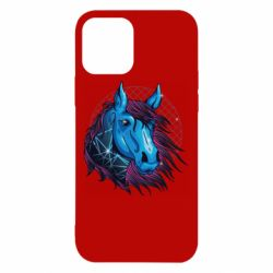 Чехол для iPhone 12/12 Pro Horse and neon color