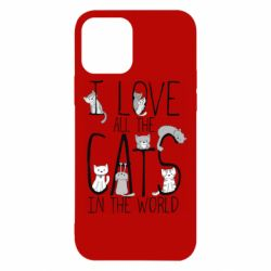 Чехол для iPhone 12/12 Pro I Love all the cats in the world