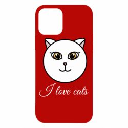 Чохол для iPhone 12/12 Pro I love cats art