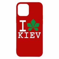 Чохол для iPhone 12/12 Pro I love Kiev - з листком
