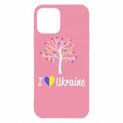 Чехол для iPhone 12/12 Pro I love Ukraine дерево