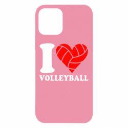 Чохол для iPhone 12/12 Pro I love volleyball