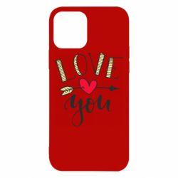 Чохол для iPhone 12/12 Pro I love you and heart