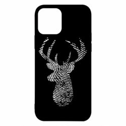 Чохол для iPhone 12/12 Pro Imprint of human skin in the form of a deer