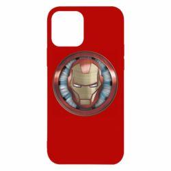 Чохол для iPhone 12/12 Pro Iron man helmet wood texture