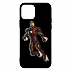 Чехол для iPhone 12/12 Pro Iron man with the shadow of the lines