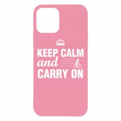 Чохол для iPhone 12/12 Pro Keep calm and carry on text