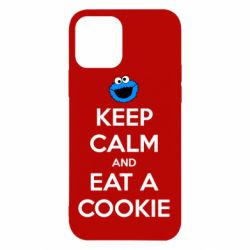 Чехол для iPhone 12/12 Pro Keep Calm and Eat a cookie