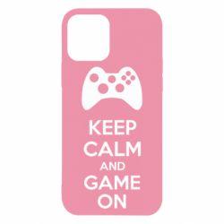 Чехол для iPhone 12 KEEP CALM and GAME ON