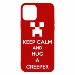 Чехол для iPhone 12/12 Pro KEEP CALM and HUG A CREEPER