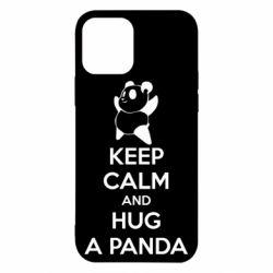 Чехол для iPhone 12/12 Pro KEEP CALM and HUG A PANDA