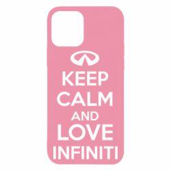 Чехол для iPhone 12 KEEP CALM and LOVE INFINITI